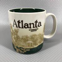 Starbucks Atlanta Global Icon City Collector Series Coffee Mug Cup 16oz Green