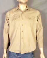 vtg 40s 50s Big Smith Union Made Sanforized Work Shirt US Army WWII Korea sz M