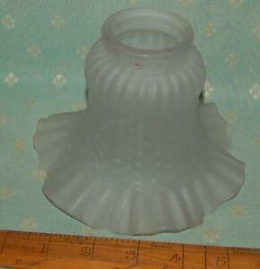 Small Vintage Glass Light Shade Antique Style Frilly Edge c1970s