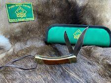 1971 Vintage 972 Puma Game Warden Knife & Jacaranda Handles & Puma Green Pouch