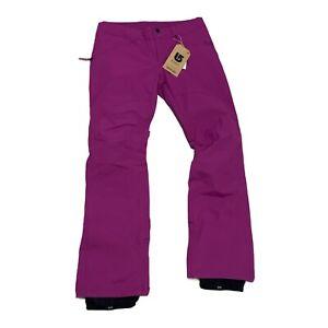 Burton Society Pants Snowboard Ski Snow  Women's XS  Grapeseed Purple