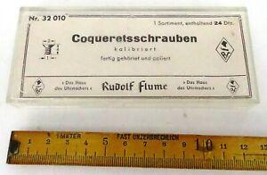 Uhrenersatzteile, Konvolut Coqueretsschrauben kalibriert, Flume, Uhrmacher