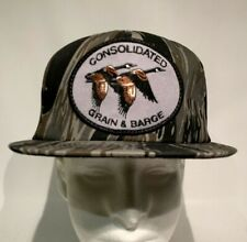 VTG Consolidated Grain & Barge Snapback Canvas Trucker Patch K Products Hat USA