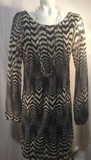 Fire Los Angeles Women's Chevron Sheer Lined Cruise Party Summer Dress L
