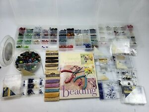 Large Glass Bead Kit - Beads Tools Book Hemp. To make Bracelet Necklace Jewelry