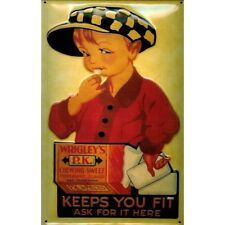 WRIGLEY'S CHEWING GUM/  PK :EMBOSSED(3D) METAL ADVERTISING SIGN 30x20cm