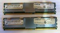Micron MT36HTF51272FY-667G1D6 8GB (2x4GB) 2Rx4 PC2-5300 DDR2 ECC 240P CL5 Memory