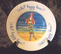 ANNE ORMSBY HOUSE OF PRILL WHAT HAPPY HOUR BEACH SCENE APPETIZER DESSERT PLATE