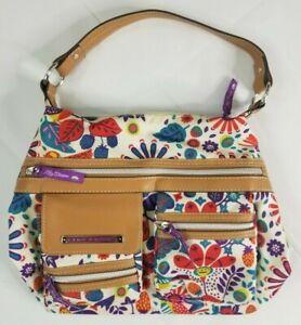 Lily Bloom Floral Hobo Purse Bag Eco Friendly Multi Pocket Satchel