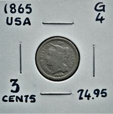 1865 United States 3 Cents