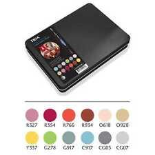 Letraset Tria Marcador Set 12 Colores + Licuadora + Metal Lata-Diseño De Interiores