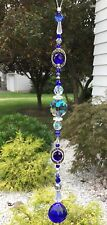 Healing Blue Crystal Swarovski Element Suncatcher/Prisms W/Blue Crystal Ball USA