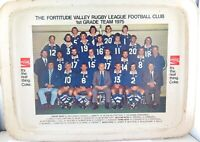 SCARCE 1975 FORTITUDE VALLEY RUGBY LEAGUE / COCA-COLA SERVING TRAY.
