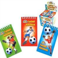 Mini Football Notebooks - Perfect For Football Theme Party Bag Filler Travel