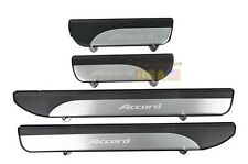 Stainless Door sill scuff plate Guards Sills For Honda Accord 2013-2017 4Pcs