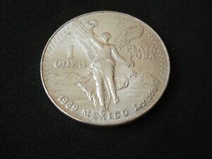 Mexico, 1 onza, 1989, silver ounce, Libertad