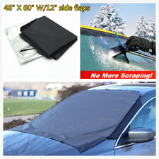 Car Front Windshield Window Snow Ice Frost & Sun Shade Magnetic Tarp Flap Cover