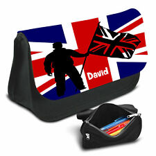 UK Flag Personalised Pencil Case Game School Bag Kids Stationary - 12