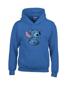 Disney Heart Lilo and Stitch Ohana Xmas Gift Kids Men Women Top Unisex Hoodie