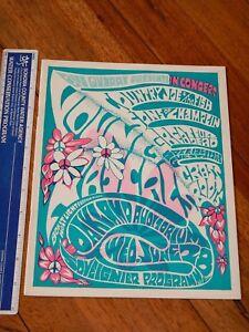 1967 GRATEFUL DEAD BILL QUARRY PRESENTS OAKLAND CONCERT PROGRAM, DON RYDER ART