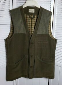Beretta Size 44 Hunting Shooting Vest Italy Green Heavy Cotton