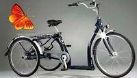 Elegance Pfau-Tec Pfiff Shopping Dreirad Fahrrad tiefer Einstieg