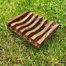 Natural Wooden Soap Dish Holder Wooden Tray Bamboo Bathroom Dish Natural Holder