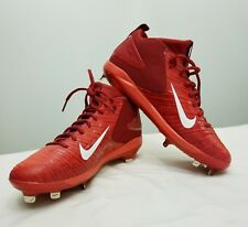NIKE TROUT 3 BASEBALL CLEATS MEN'S SIZE 11.5 RED/WHITE 856498-667