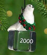 Hallmark 2000 Ice Block Buddies #1 Seal Miniature Ornament