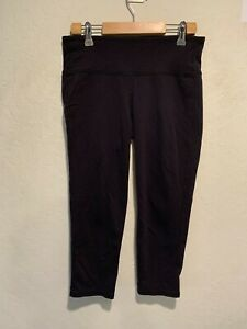 "Athleta Women's Yoga Pants Leggings Size SMALL Black 21"" Inseam Compression VGUC"