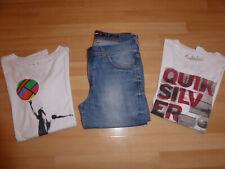 Lot Quiksilver garçon 16 ans Jean + 2 tee-shirts blancs manches longues cf texte