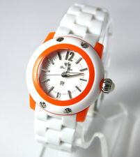 Authentic Glam Rock Womens Miami Beach Bracelet Watch GK4007 WHITE & ORANGE NEW!