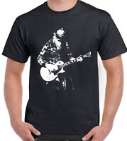 The Edge Mens T-Shirt U2 Guitar Electric Acoustic Amp Band
