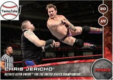 Topps NOW WWE 93 Chris Jericho Defeats Kevin Owens for the US Championship