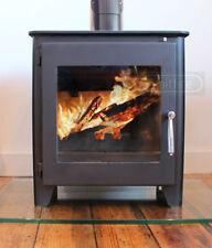 ST1 VISION SALTFIRE BLACK WOOD LOG BURNER BURNING DEFRA AIR WASH LARGE STOVE 5KW