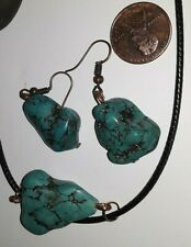 5G HEALING VIRUS PROTECTION GENUINE NATURAL TURQUOISE NECKLACE EARRINGSET