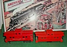 2 Used American Flyer Red Cabooses Shells/Fences For Parts Restore Kit Bashing