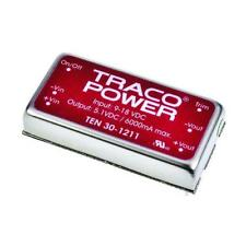 1 x TRACOPOWER Isolated DC-DC Converter TEN 30-1211, Vin 9-18V dc, Vout 5.1V dc