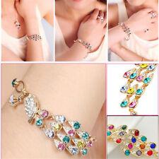 Colorful Rhinestone Crystal Peacock Bracelet Fashion Women Bangle Jewelry Gift