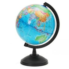 World Globe Map Blue Ocean Geography Educational Toy Gift With LED light & stand