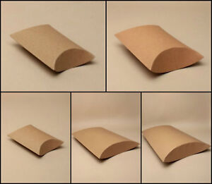 12 x Pack Natural Brown Craft/ Kraft Paper Pillow Boxes/ Gift Boxes/ Wholesale