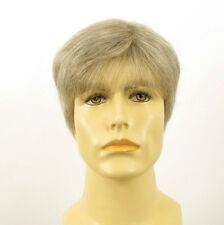 Perruque homme 100% cheveux naturel blanc méché gris FRED 51
