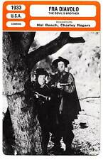 FICHE CINEMA : FRA DIAVOLO - King,Roach 1933 The Devil's Brother/Bogus Bandits