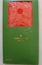 NWT $32 Kate Spade New York Sheer Stripe Nylon Tights Pompeii Red Sz S/M