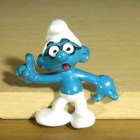 Smurfs Vintage Magnet Brainy Smurf Rare 1983 Figure Schleich PVC Fridge Toy Peyo