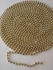 Shiny Gold Plastic Bead Christmas Tree Garland Strand Decoration 17 Feet 8mm