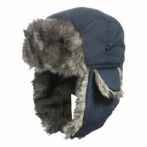 Mens Trapper Aviator Bomber Ear Flap Hat Winter Warm Ski Cap Trooper Thick Furry