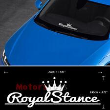(1) White JDM Crown Royal Stance Hellaflush Vinyl Car Decorate Sticker Decal