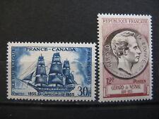 FRANCE neufs n° 1035, 1043 (1955)