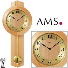 AMS Reloj de pared 5165/16 péndulo RADIO MADERA MACIZA Aliso